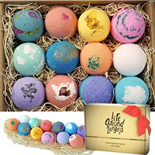gifts for Pisces woman Bath Bombs Gift Set 12 USA made Fizzies, Shea & Coco Butter Dry Skin Moisturize, Perfect for Bubble & Spa Bath. Handmade Birthday Mothers day Gifts idea For Her/Him, wife, girlfriend