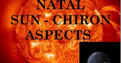 Natal Sun - Chiron aspects