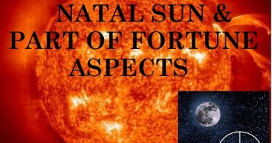 Natal Sun - Part of fortune aspects