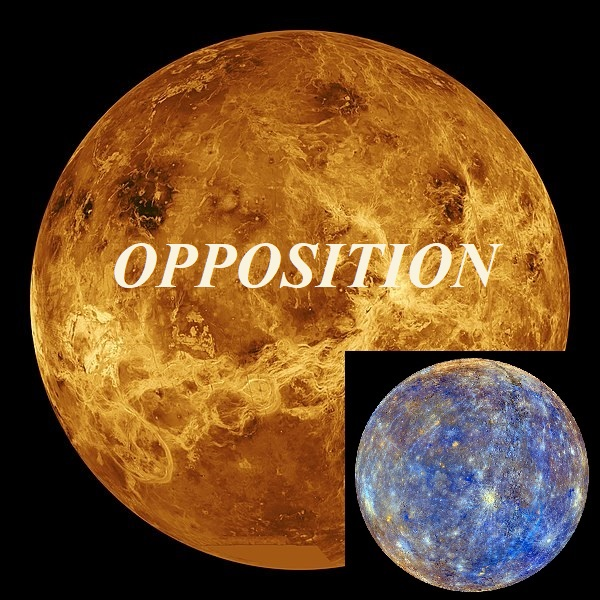 Venus opposition Mercury