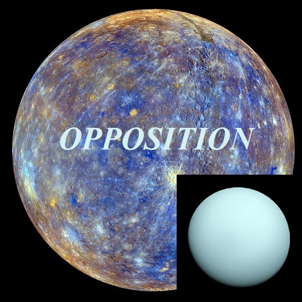 Mercury opposition Uranus