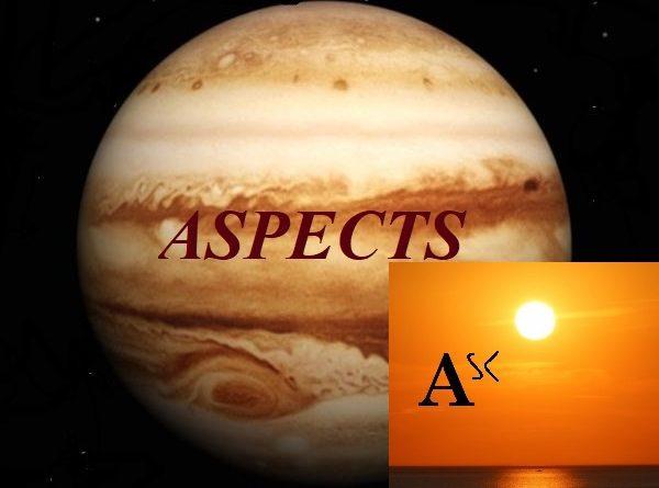 Natal Jupiter - Ascendant aspects