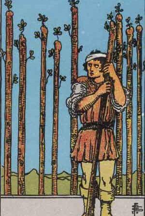 Nine of Wands Tarot Card