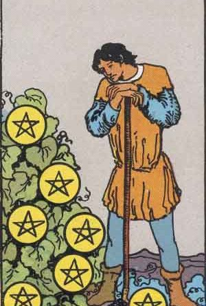 Seven of Pentacles Tarot Card